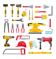 construction toolkit home renovation and repair vector image
