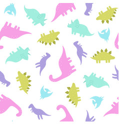 cute and funny dinosaurs vector image