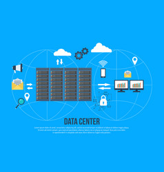 Data center creative concept vector