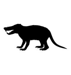 deinogalerix hedgehog rat silhouette extinct vector image