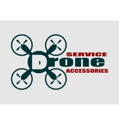 Drone icon Drone service and accessories text vector image
