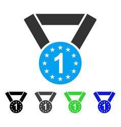 First medal flat icon vector