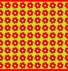 Floral seamless with flowers in a row side by side vector
