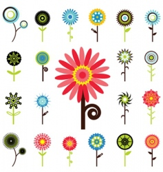 flower graphics vector image
