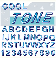 font 1 vector image