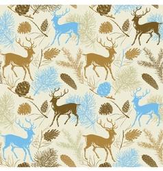 Forest Deer Background Pattern vector