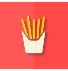 Fried potatoes icon Flat design vector image