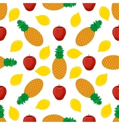 Fruits flat seamless pattern vector image