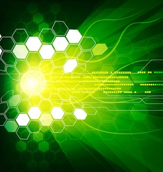 geometric and lines abstract green colour vector image