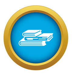 Graph finance book icon blue isolated vector