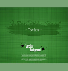 grunge background for sporting events and concerts vector image