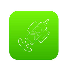 Hand insecticide spray icon green vector