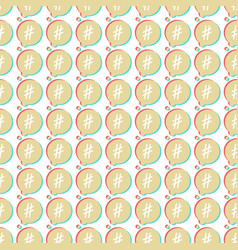 icon hashtag seamless pattern vector image