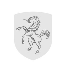 image of heraldic unicorn vector image