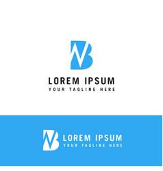 initial based clean and minimal logo bn nb b n vector image
