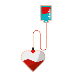 isolated blood donation design vector image