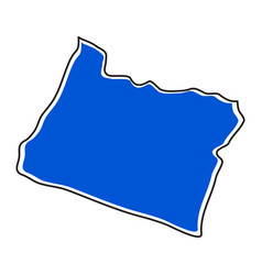 isolated map of the state of oregon vector image
