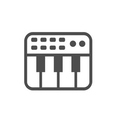 Keyboard midi simple icon white design vector
