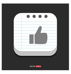 like icon gray icon on notepad style template eps vector image