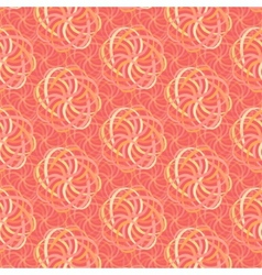Line flower pattern in shades pink vector
