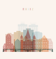 Mainz skyline detailed silhouette vector