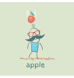 Man falls down an apple vector