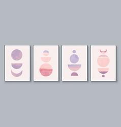 mid-century modern design a trendy set vector image