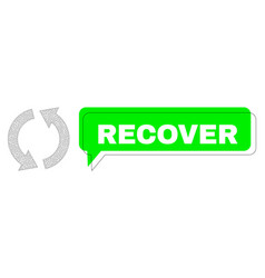 Misplaced recover green chat balloon and mesh vector