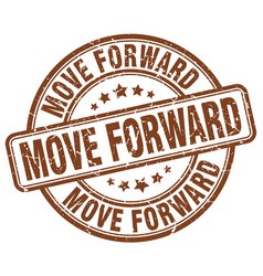 Move forward brown grunge stamp vector