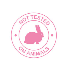 Not tested on animals cruelty free pink banner vector
