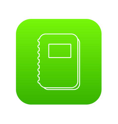 notebook icon green vector image