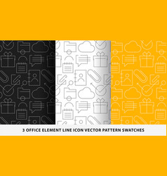 Office element line icon pattern swatches vector