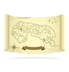 old treasure map vector image