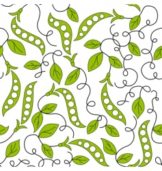 pea pod seamless background vector image