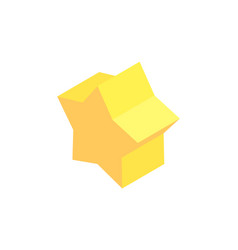pentagrammic prism sample colorful vector image
