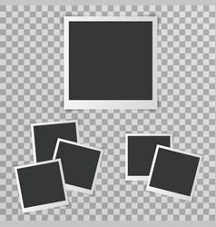 photo picture frame with shadow realistic design vector image