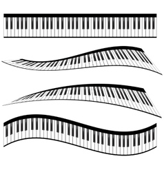 Piano keyboards vector image