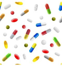 Pills background vector