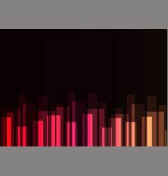 red stripe overlap in dark background vector image