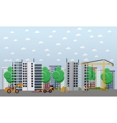 Residential construction concept vector image