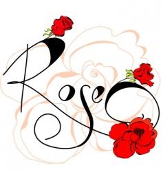 Rose flowers vector
