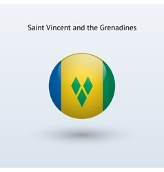 Saint Vincent and the Grenadines round flag vector image