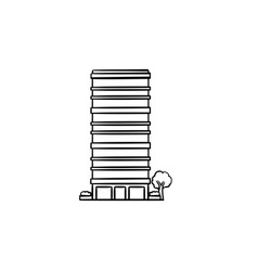 skyscraper hand drawn outline doodle icon vector image