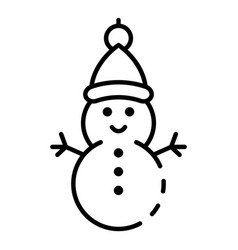 snowman icon outline style vector image