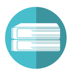 stack book school image shadow vector image
