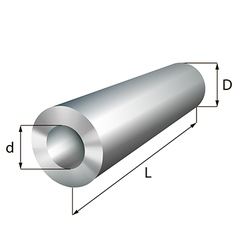 Steel cylinder tube industrial metal object vector image
