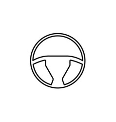 Steering wheel line icon car and navigation vector
