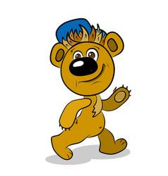 Stock cartoon teddy bear vector