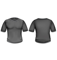 T-shirt black vector image