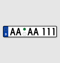 Vehicle registration plates vector
